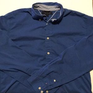 Blue Tommy Hilfiger Button Up